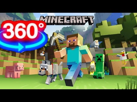 Minecraft Dungeons VR 360 Video Game