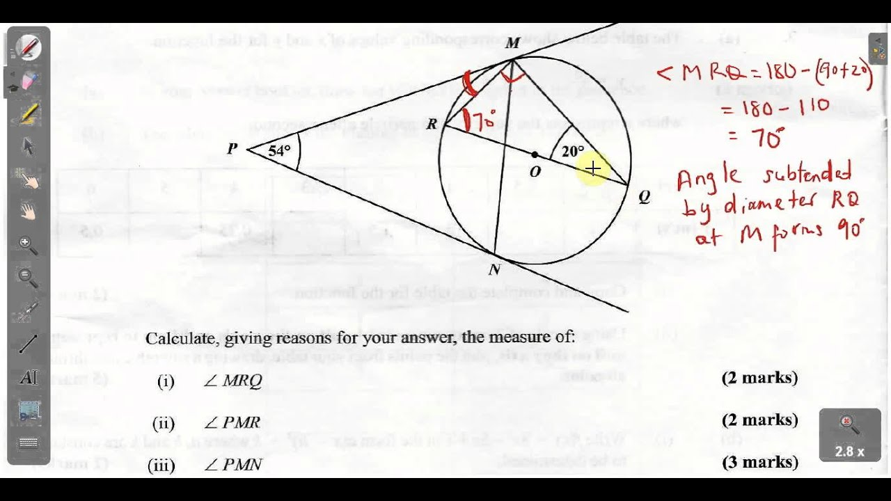 CSEC CXC Maths Past Paper 2 Question 10a January 2013 Exam