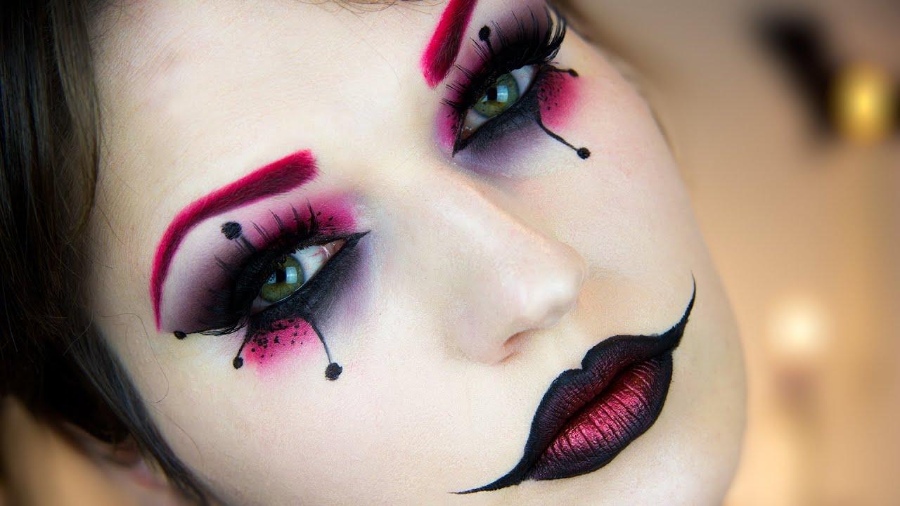 Harley Quinn Halloween Makeup Tutorial  YouTube