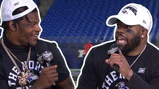 "Mark Ingram on Lamar Jackson ""That's a WILD DOG!!"" | TNF Post Game Interview"