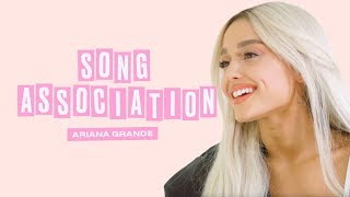 Ariana Grande Premieres a New Song from Sweetener in a Game of Song Association | ELLE