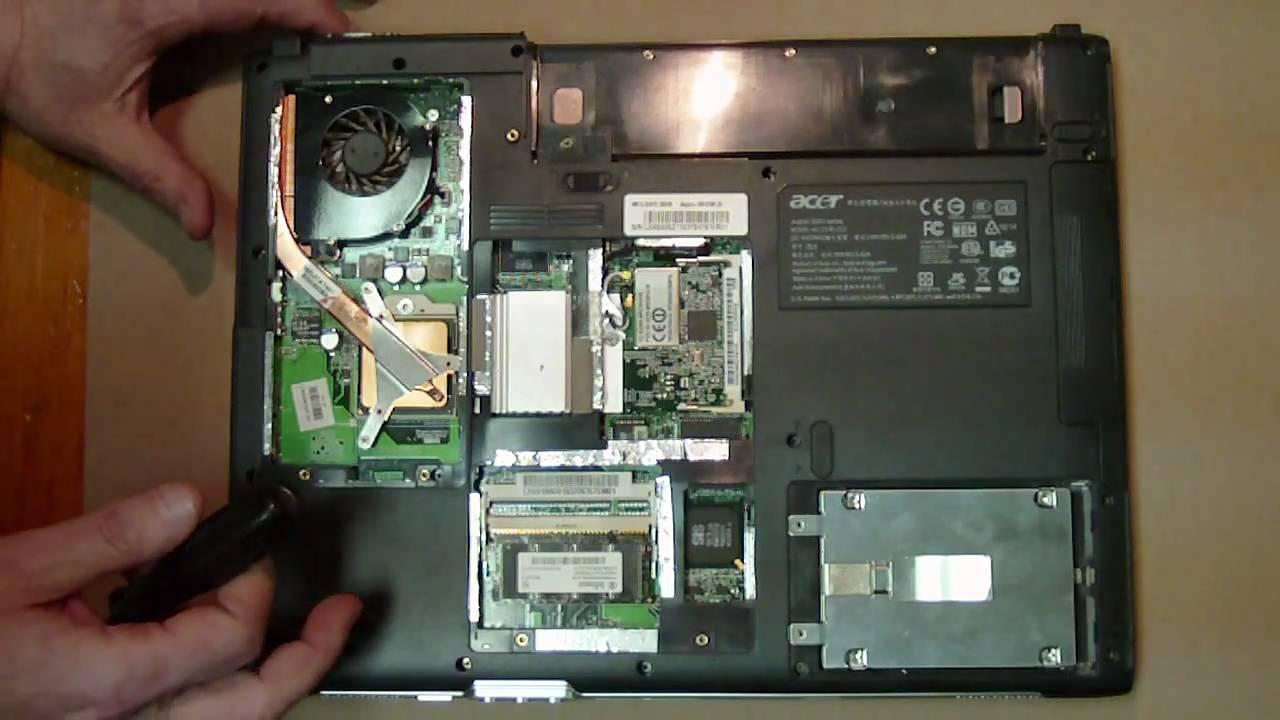 ACER Aspire 3000 Series ZL5 Laptop Repair Teardown - YouTube