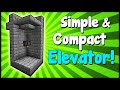Simple & Compact Elevator! - Minecraft Tutorial