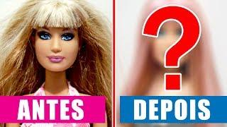 Transformação - Cortando, Colorindo o Cabelo e Maquiando a Barbie