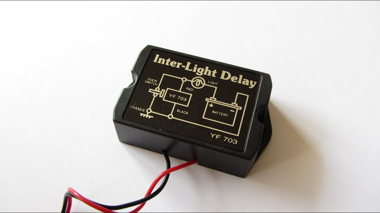 Vehicle Interior Lighting With Switch Off Delay