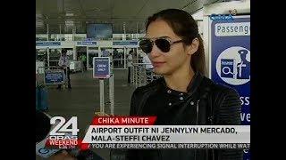 Airport outfit ni Jennylyn Mercado, mala-Steffi Chavez