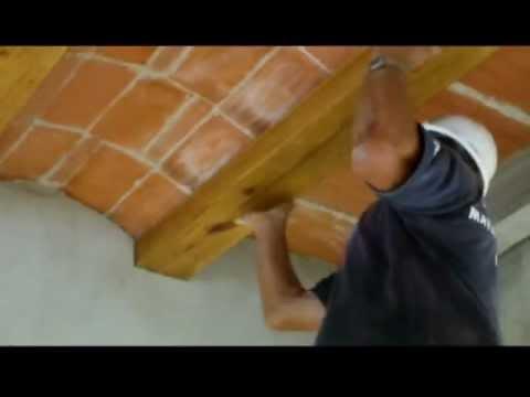 Cmo forrar con madera vigas de hormignVideo n 61  YouTube