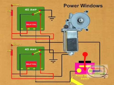hyundai golf cart wiring diagram house 240v how to wire a power window relay - youtube
