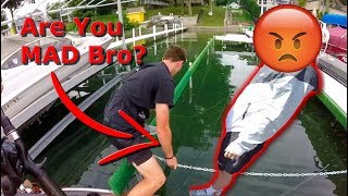 Angry Angler Wants to Fight? Jon B Breaks my Boat??