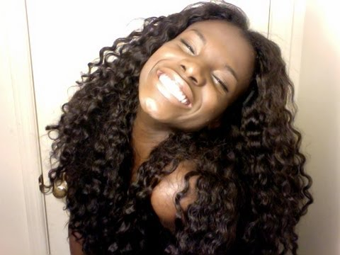 how to blend your hair with wet and wavy weave heat free youtube