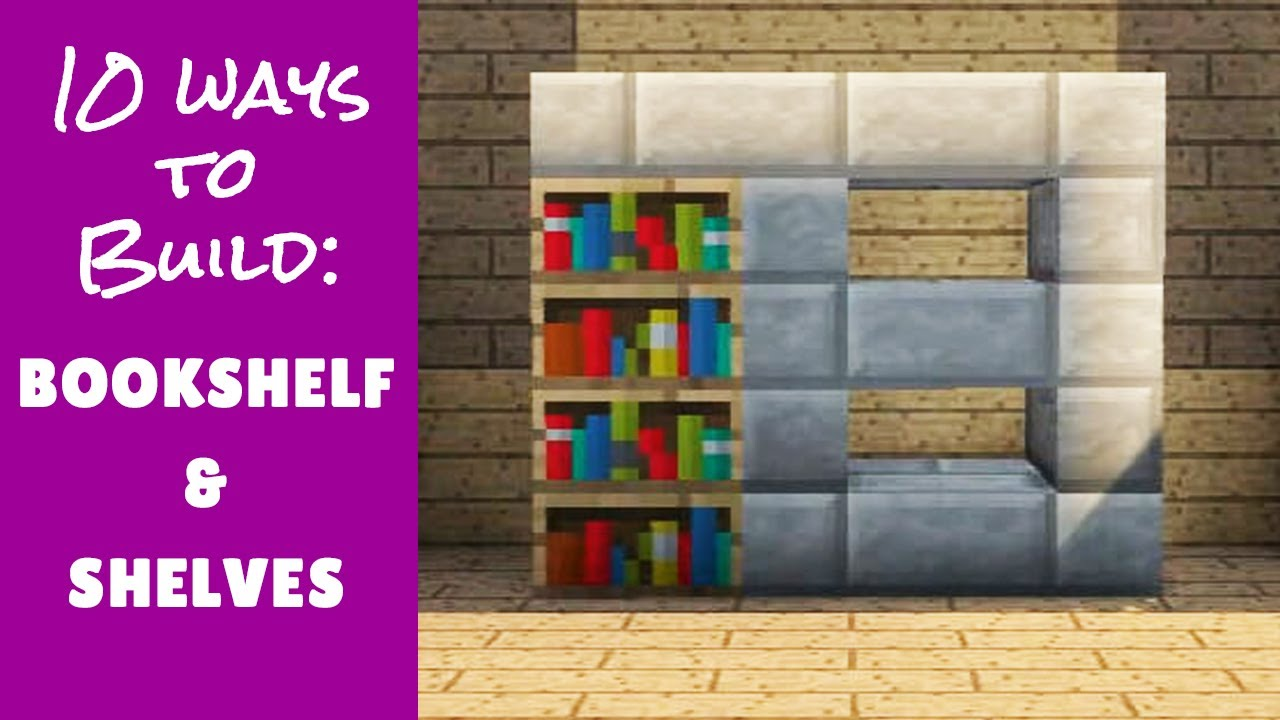 Minecraft Furniture Bookshelf Designs and Tips  YouTube