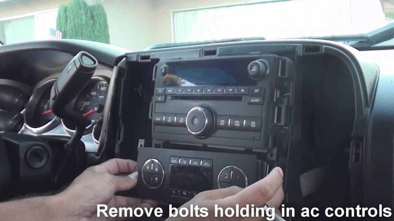 2007 Gmc Sierra Radio Wiring Diagram How To Remove Factory Stereo Chevy Silverado 2007 And Up