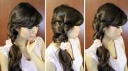 everyday fancy loop ponytail hairstyle