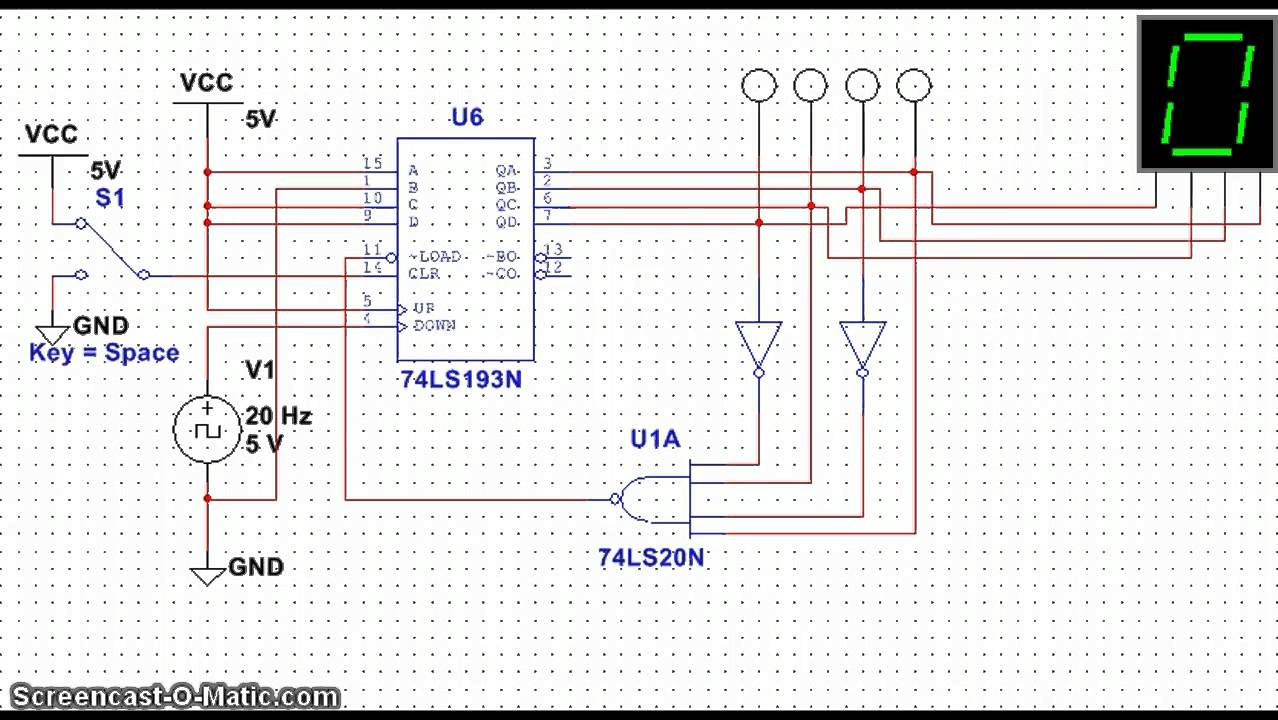 2013 Jk Wiring Diagram Msi 74ls193 Synchronous Down Counter Youtube