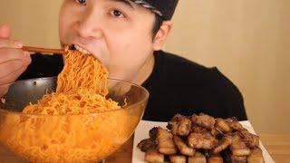 맛있게 구운 삼겹살과 비빔면 먹방~!! 리얼사운드 social eating Mukbang(Eating Show)