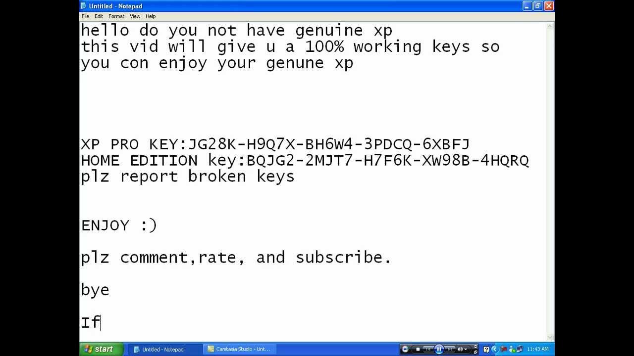 Windows Xp Sp3 Serial Key