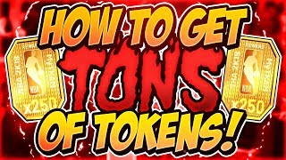 HOW TO GET TONS TOKENS IN MYTEAM (BEST WAY)! PINK DIAMOND PLAYERS!! (NBA 2K19 MYTEAM)