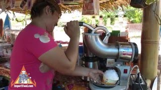 Shaved Ice Thai Street Vendor - Snocones