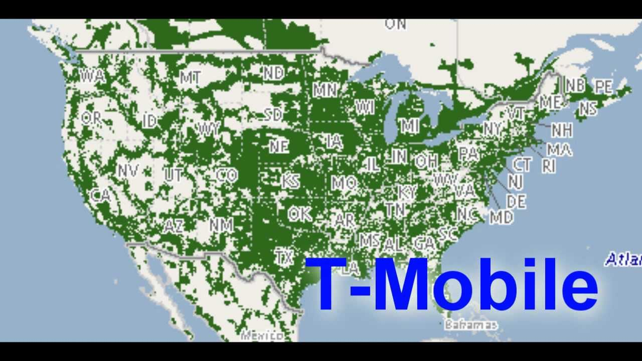 on cell phone coverage maps comparison