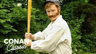Watch Conan Plays Old Timey Baseball - Conan25: The Remotes Video