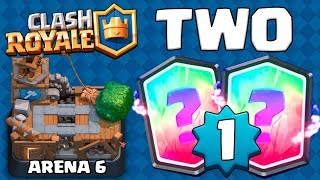 TWO LEGENDARIES IN ARENA 6 AS LEVEL 1 :: Clash Royale :: LEVEL 1 WINS AGAINST LEVEL 7 PLAYERS!