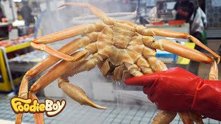Steamed Snow Crab and Fried Rice / Korean Street Food / Gangneung Korea