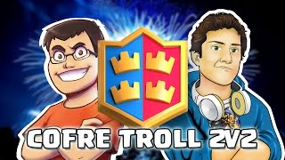 TROLLEANDO CON WITHZACK EN EL 2v2. Globo + clonación OP | Cofre Troll | Clash Royale con Alvaro845