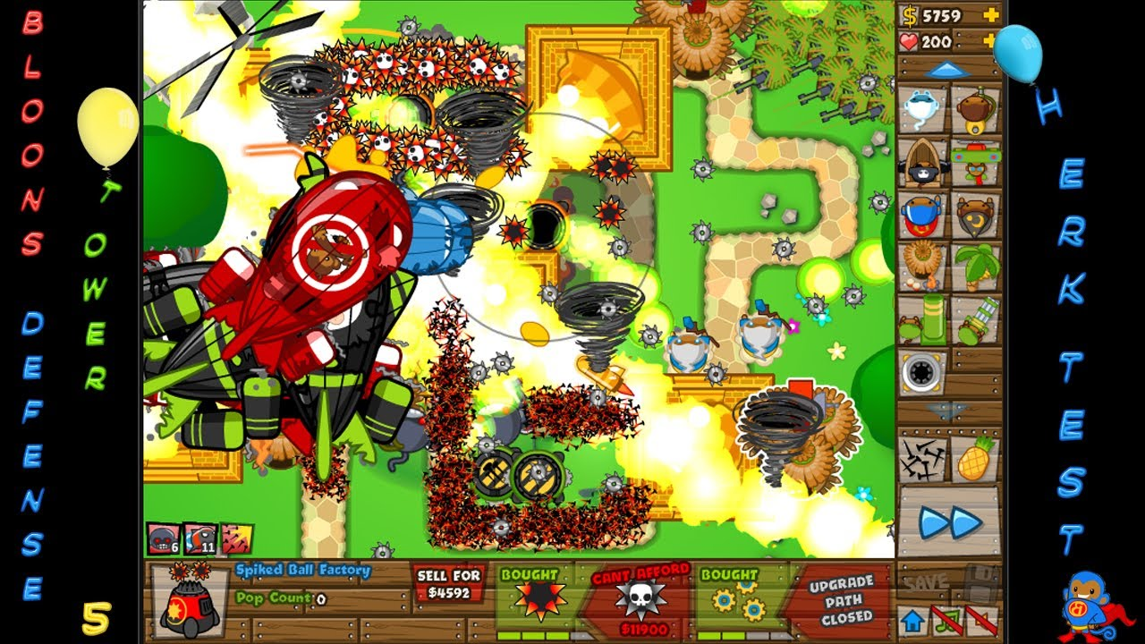 Black And Gold Games: Bloons Tower Defense 5 Itunes