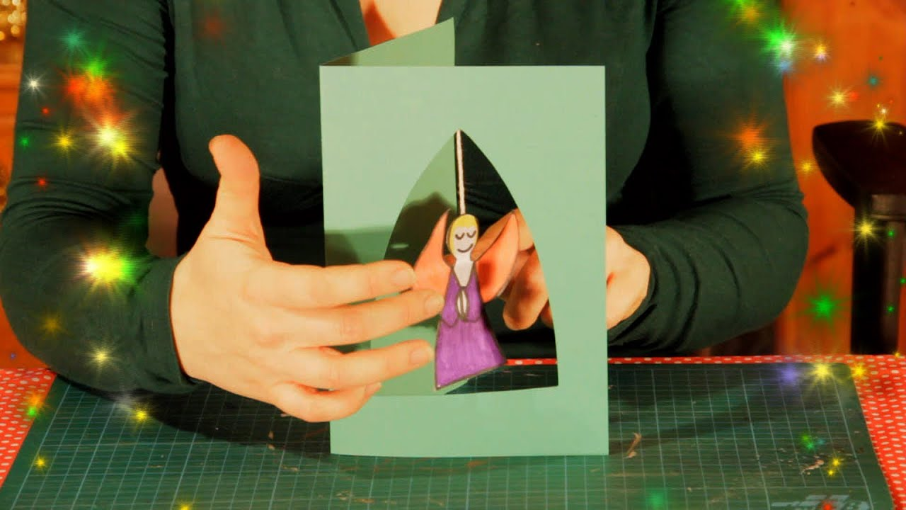How To Make A Hanging Angel Christmas Card Easy Simple