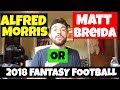 Alfred Morris or Matt Breida? Who to Draft/Pick Up in 2018 Fantasy Football after McKinnon ACL Tear