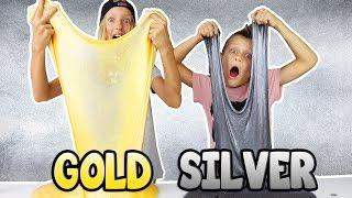 METALLIC SLIME!!! GOLD vs SILVER