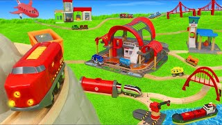 Train Toys: Fire Truck, Police Cars, Tractor & Wooden Railway Toy Vehicles for Kids