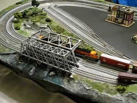 N Scale Model Railroad Featuring Kato Unitrack