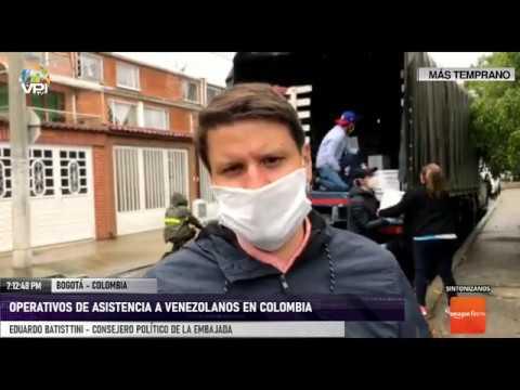 Colombia - Operativos de asistencia en Bogotá han brindado más de 2500 ayudas a venezolanos - VPItv