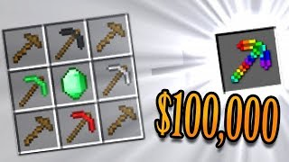 Crafting Minecraft's Most Valuable Pickaxe