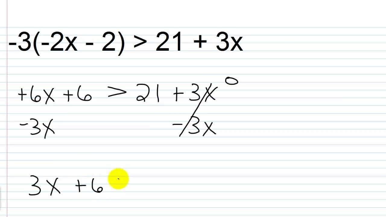 Algebra II Lesson III.2: Solving Linear Inequalities in