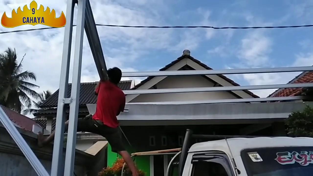 youtube cara membuat kanopi baja ringan proses perakitan