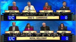 University Challenge - Christmas 2014 E03 . King's College, Cambridge vs University of London