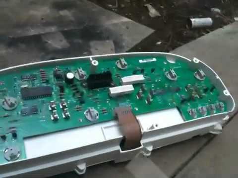 1992 Dodge Dakota Fuse Panel Diagram Repair Instrument Cluster 1999 Dodge Caravan Youtube