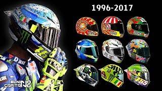 Desain Helm Valentino Rossi 1996-2017 ● Dari Awal Karirnya ● Elnino Capitano