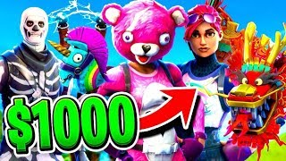 I SPENT $1000 on FORTNITE Battle Royale...