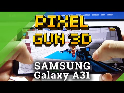 Gaming Quality Test on Samsung Galaxy A31 - Pixel Gun 3D Gameplay