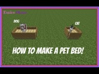 Minecraft - How to Make a Bed of Cat or Dog [DECOR] - YouTube