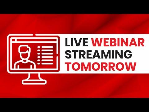 Free Live Webinar Reminder.