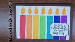 birthday drawing card cards happy drawings wishes