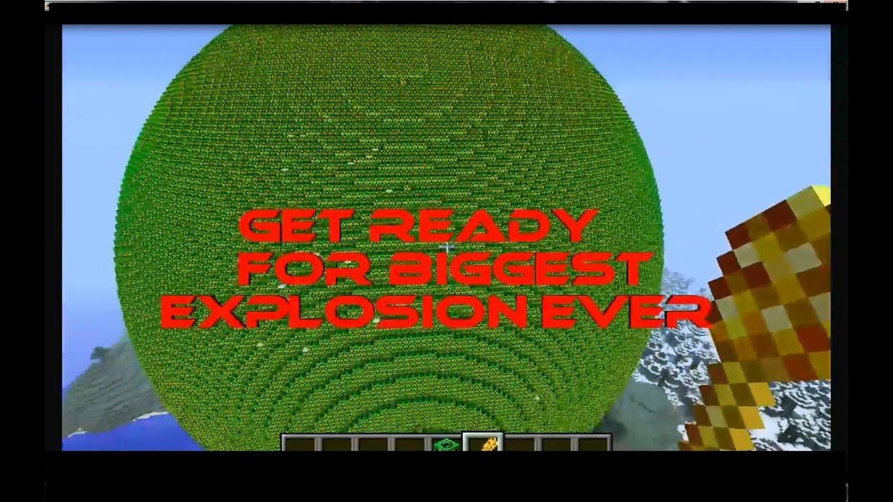 Minecraft Biggest NUKE Ball Explosion EVER YouTube