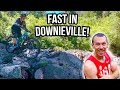 Going 55 KPH on Downieville Mountain Bike Trails...