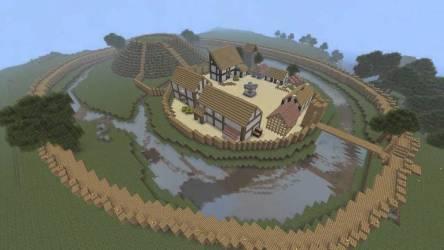 minecraft medieval village speedbuild