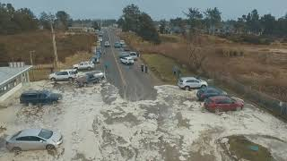 Storm Surge - High Tide - Ocean Park, Wa Beach Approach ″Cars Scrambling″ Today 1-18-2018