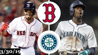 Boston Red Sox vs Seattle Mariners Highlights | March 30, 2019